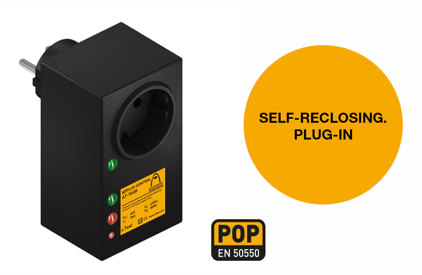 ATPLUG CONTROL: the plug-in and self-reclosing protector against surges and undervoltages