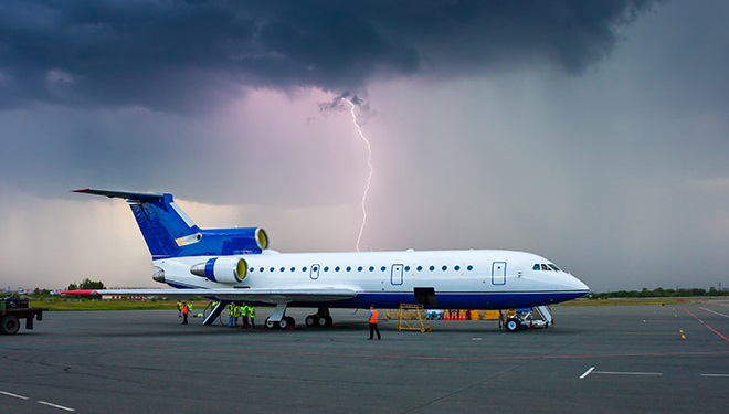 airport operations are at risk of lightning
