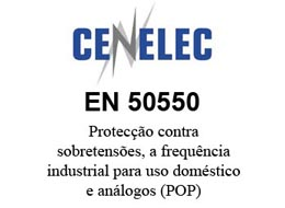 Protecção contra sobretensões, a frequência industrial para uso doméstico e análogos (POP) segundo a norma EN 50550