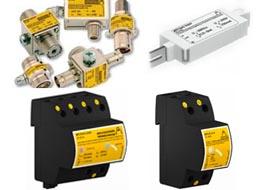 Protecção contra sobretensões para instalações de telecomunicações domésticas e escritórios