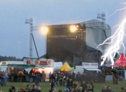 51 personas resultan heridas en un concierto en Alemania debido a un rayo. Un adecuado detector de tormentas podría haber evitado el accidente.