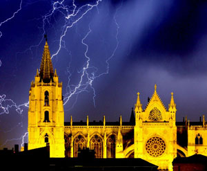 Dat Controler® Plus lightning rod at the Cathedral of León (Spain)