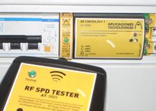 RF SPD TESTER: equipamento de comprovação por rádio frequência para protectores contra sobretensões transitórias de linhas de dados.