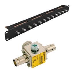 ATFREQ 12 BNC: protection contre les surtensions pour lignes coaxiales en support rack