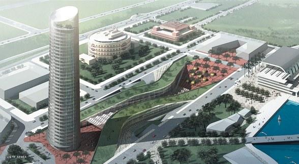 """A DAT CONTROLER PLUS will protect Sevilla skyscraper """"Pelli Tower"""""""
