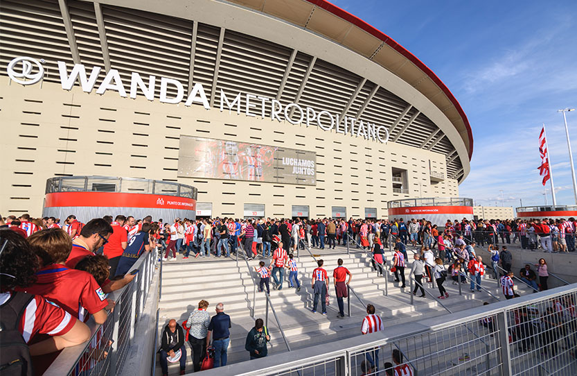 O novo estádio Wanda Metropolitano está protegido contra o raio com os nossos DAT Controler Plus