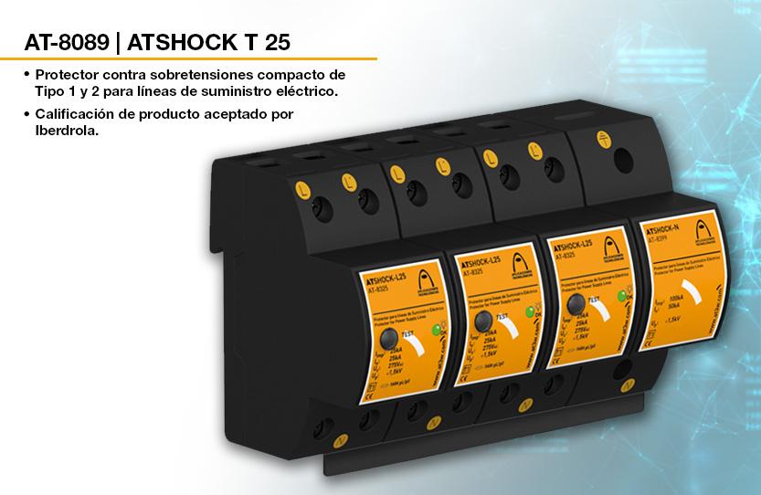 Nuevo protector de sobretensiones ATSHOCK T 25 con certificación de producto aceptado por IBERDROLA