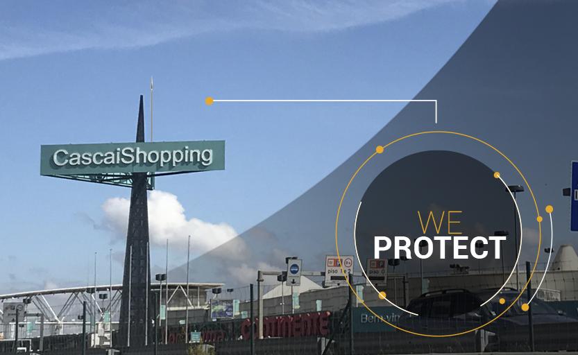 CascaiShopping, protégé par des paratonnerres DAT CONTROLER® PLUS