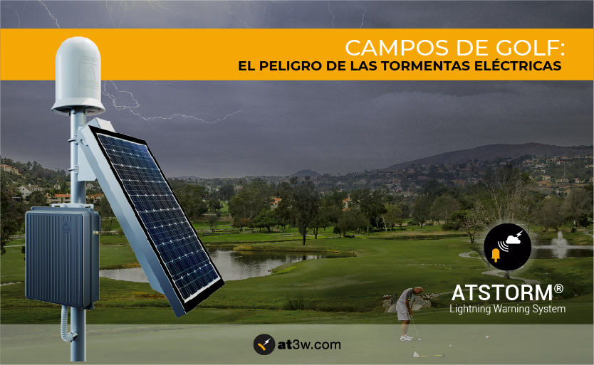 tormentas eléctricas en campos de golf, detector de tormentas