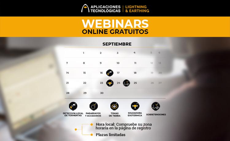 Avance de la programación de webinars gratuitos para septiembre 2020