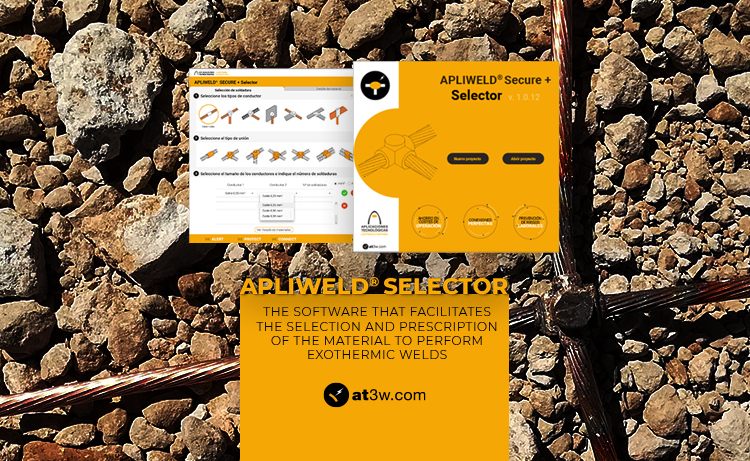APLIWELD® Selector: the software that facilitates the selection and specification of exothermic welding material