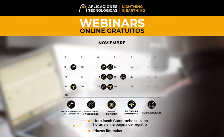 Programación de formaciones online para profesionales: octubre y noviembre 2020