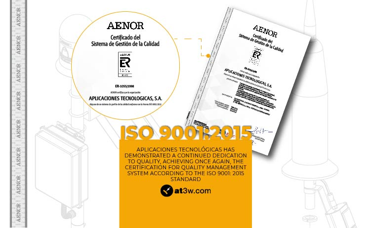 Aplicaciones Tecnológicas has demonstrated a continued dedication to quality, achieving once again, the certification for Quality Management System according to the ISO 9001: 2015 standard