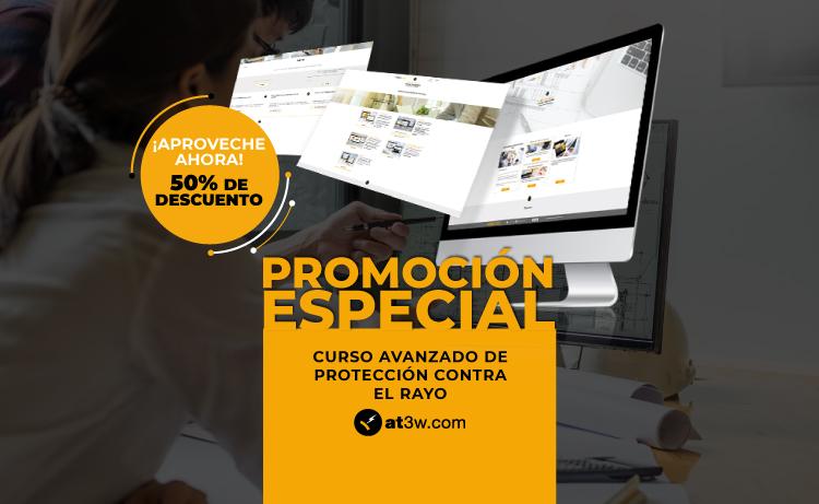 ¡Aproveche el descuento del 50% en el Curso Online de Proyectos de Protección Contra el Rayo!