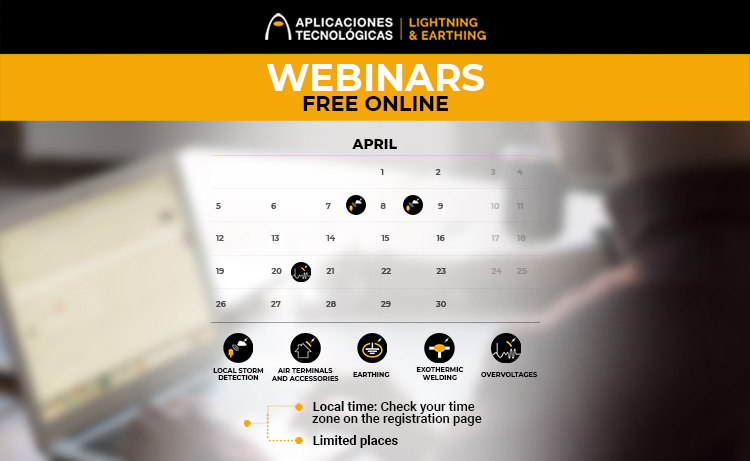 Free online webinars for march and april 2021 by Aplicaciones Tecnológicas