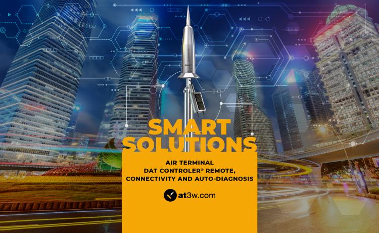 Smart Solutions air terminals, smart lightning arrester
