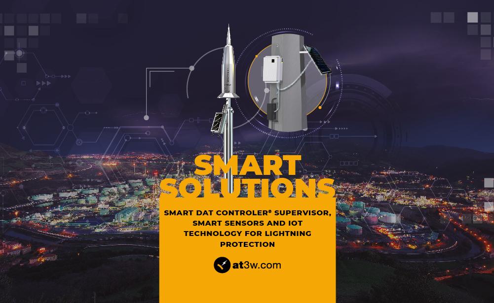 Smart solutions, IoT, Big Data, lightning rods, lightning protection system