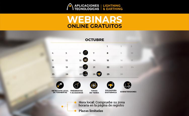 webinars formaciones online cursos gratuitos pararrayos soldadura aluminotérmica detector de rayos tormentas